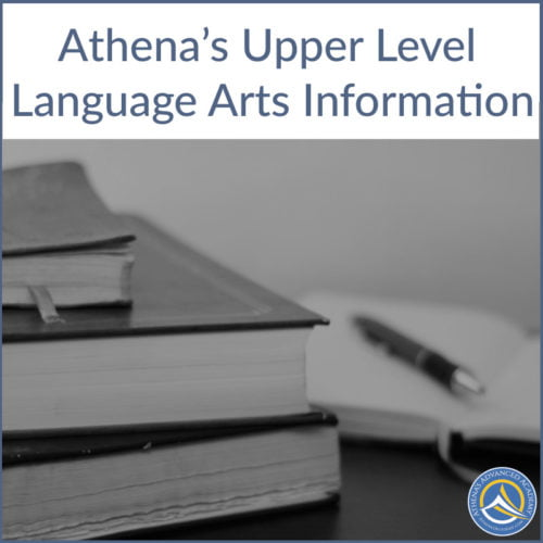 Athena's Upper Level Language Arts Information